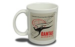 QANTAS Airways 1950's Vintage Bag Sticker 11 oz. Coffee Mug