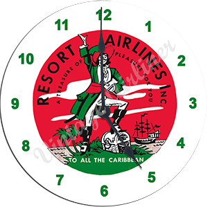 Resort Airlines Wall Clock
