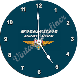 SAS Airlines Bag Sticker Wall Clock