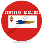 Scottish Airlines Logo Square Round Coaster