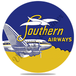 Southern Airways 1950's Vintage Round Coaster