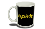 Spirit Airlines Black and Yellow Logo 11 oz. Coffee Mug