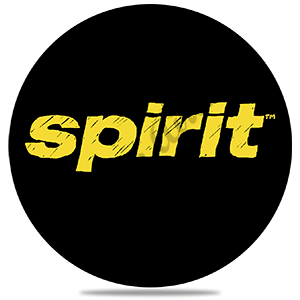 Spirit Airlines Black and Yellow Logo Round Coaster