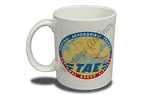 TAE Greek Airlines Vintage Bag Sticker 11 oz. Coffee Mug