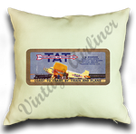 Transcontinental Air Transport Vintage Linen Pillow Case Cover