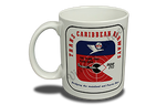 Trans Caribbean Airlines Vintage Bag Sticker 11 oz. Coffee Mug