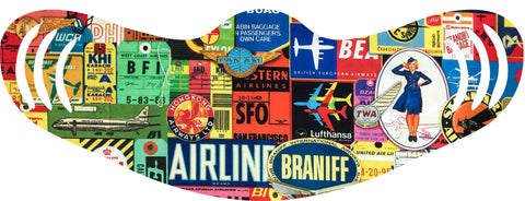 Vintage Airlines Collage Face Mask