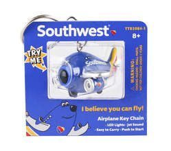 Southwest Airplane Keychain W/Light & Sound New Livery