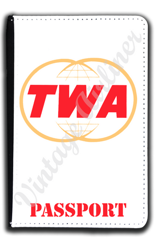 TWA Twin Globe Logo Passport Case