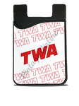 TWA 1980's White Timetable Card Caddy