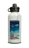 TWA European Travel Poster Aluminum Water Bottle