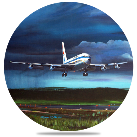 United Airlines 7202 Round Coaster by Rick Broome