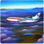 United Airlines DC10 Square Coaster by Rick Broome