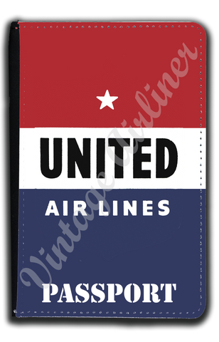 United Airlines 1940's Logo Passport Case
