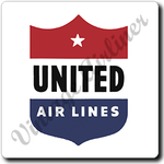 United Airlines 1940's Logo Square Coaster