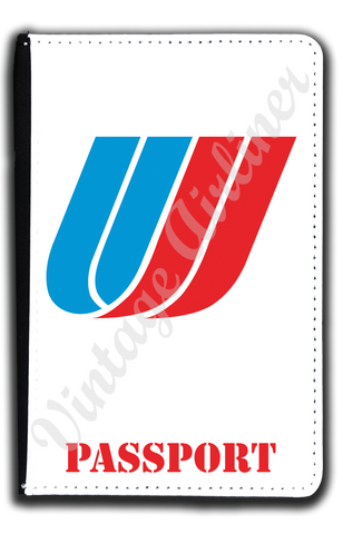 United Airlines Tulip Logo Passport Case