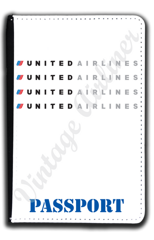 United Airlines Logo Passport Case