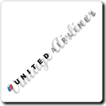 United Airlines Logo Square Coaster