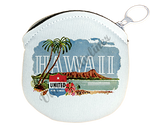 United Airlines Hawaii Bag Sticker Round Coin Purse