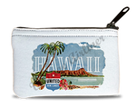 United Airlines Hawaii Bag Sticker Rectangular Coin Purse