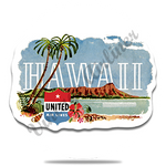 United Airlines Hawaii Round Coaster
