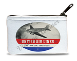 United Airlines 1940's Bag Sticker Rectangular Coin Purse