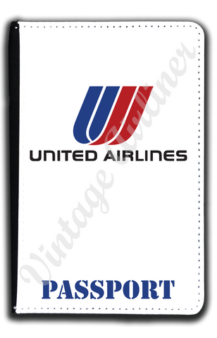United Airlines Logo with Tulip Passport Case