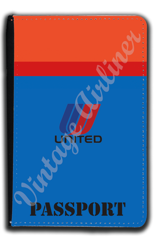 United Airlines Red & Blue Logo Passport Case