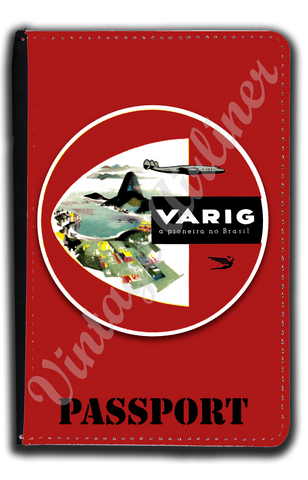 Varig Airlines Vintage Bag Sticker Passport Case