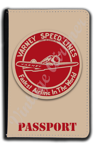 Varney Speed Lines Bag Sticker Passport Case