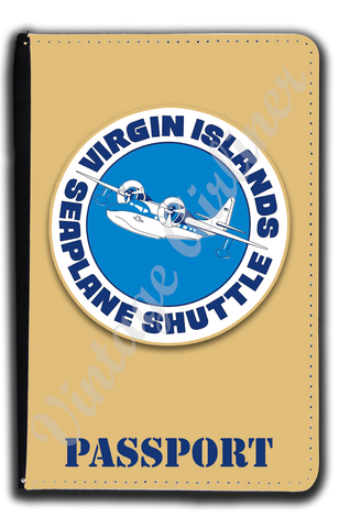 Virgin Islands Seaplane Shuttle Bag Sticker Passport Case