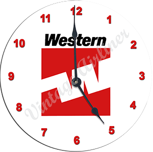 Western Airlines Last Logo Wall Clock
