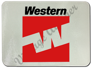 Western Airlines Last Logo Glass Cutting Board