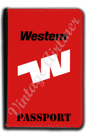 Western Airlines Last Logo Passport Case