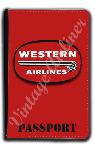 Western Airlines 1950's Vintage Logo Passport Case