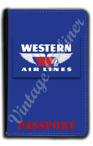 Western Airlines 1950's Logo Passport Case