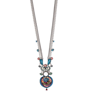 AYALABAR NECKLACE - RUBY BLUE