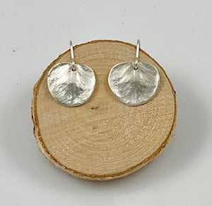 FIVE ISLAND STUDIO - Fine Silver Small Eucalyptus Earrings
