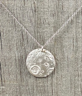 FIVE ISLAND STUDIO  - Fine Silver Full Moon Pendant