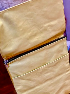 ITALIAN LEATHER CROSS BODY BAG - BUTTER YELLOW