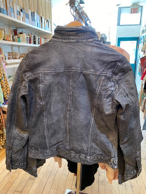 MAURITIUS LEATHER JEAN JACKET