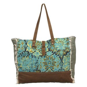 MYRA BAG - AQUA MAGIC WEEKENDER BAG