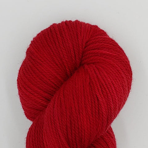Red color; Dakota Yarn<br>Worsted Weight<br>Targhee 100
