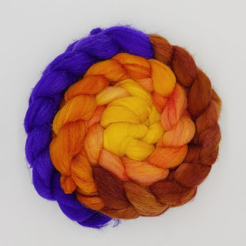Kente Spirit Gradient Colorway;<br>Polwarth-Silk Fiber
