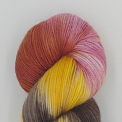 Ubuntu Colorway; <br>SilkySock;<br>Sock Weight Yarn;<br>SW Merino-Silk-Cashmere 70-20-10
