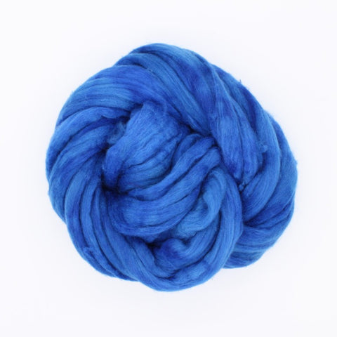 Azure Color;<br>Mixed Merino-Silk Fiber