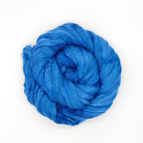 Azure Color;<br>Merino-Silk 50-50 Fiber