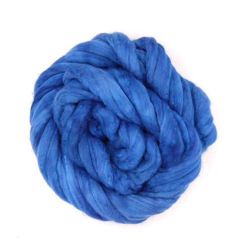 Azure Color;<br>Polwarth-Silk Fiber