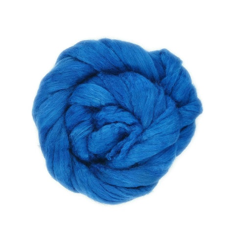Azure Color;<br>BFL-Silk Fiber