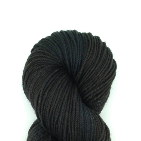 Black (Little Black Dress) Color;<br>Tahoma Yarn<br>DK Weight<br>100 % SW Merino;<br>4 oz Skeins